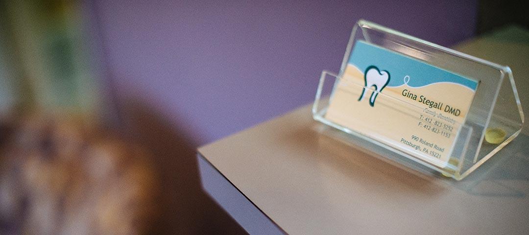 Dentist Business Card - Dr. Gina Stegall